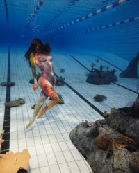 underwater body painting makeup